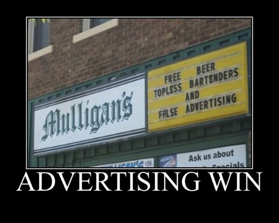 Winning... with false advertising