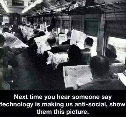 The next time you hear someone say technology is making us antisocial...