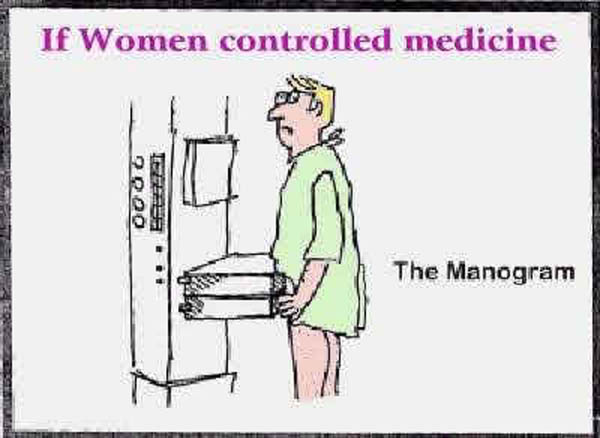 What if women controlled medical science? The manogram!