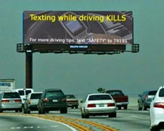 Texting while driving irony...