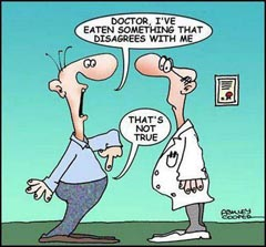 Doctor, I've eaten something that disagrees with me!