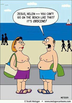 You can't go on the beach like that!